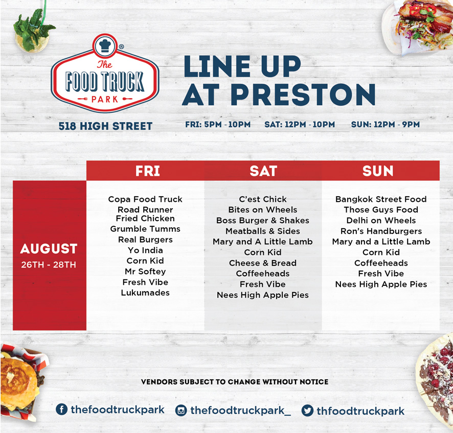 Preston Lineup Aug Spring The Food Truck Park